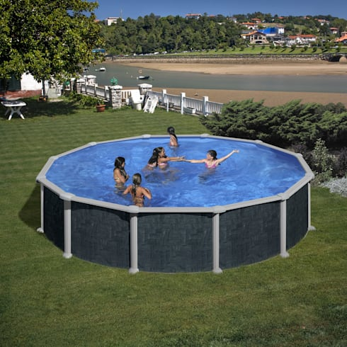 Piscinas decoradas de top piscinas com homify for Funda piscina redonda