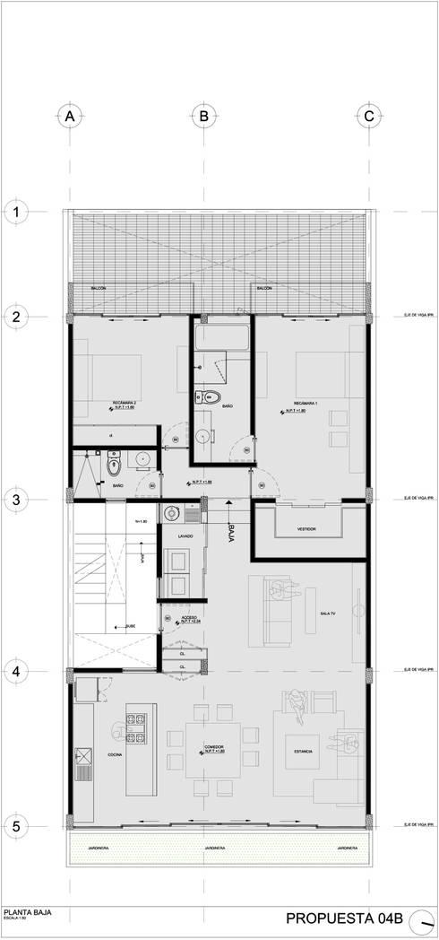 COATEPEC: Casas de estilo moderno por gOO Arquitectos