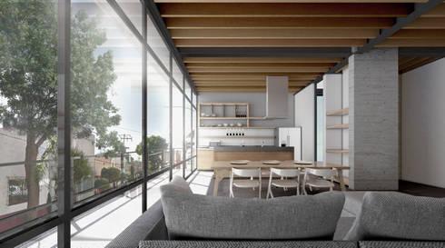 COATEPEC: Cocinas de estilo industrial por gOO Arquitectos