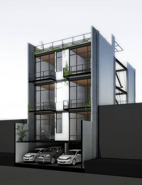 COATEPEC: Terrazas de estilo  por gOO Arquitectos