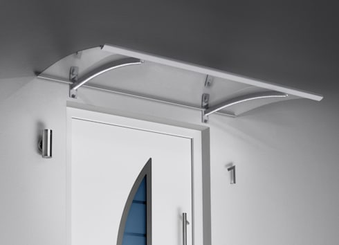 Haustürvordach - Pultvordach mit LED:   von elite-BauStoffe  -  Matthias Löffler Handelsvertretung Baustoffe