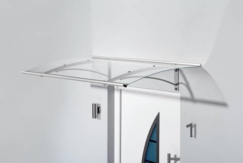 Haustürvordach - Pultvordach PT Secco:   von elite-BauStoffe  -  Matthias Löffler Handelsvertretung Baustoffe