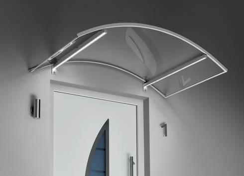"""Haustürvordach - Bogenvordach mit """"LED- Licht"""":   von elite-BauStoffe  -  Matthias Löffler Handelsvertretung Baustoffe"""