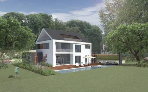 Gartenansicht:   von Achtergarde + Welzel Architektur + Interior Design