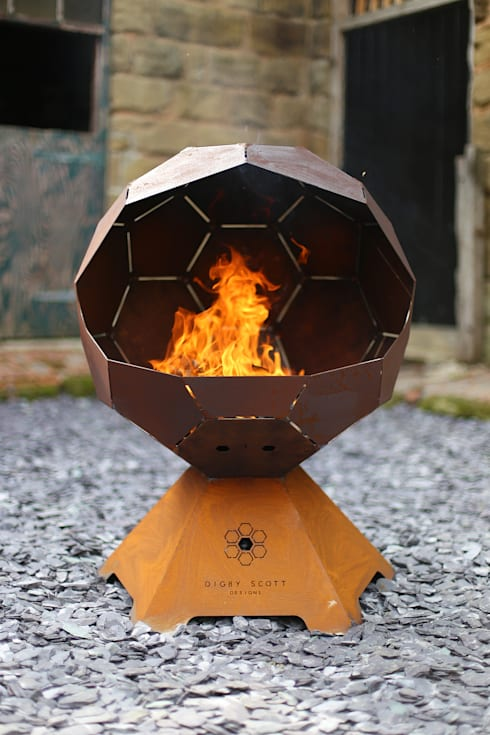 The Football Barbecue and Fire Pit:  Garden  by Digby Scott Designs