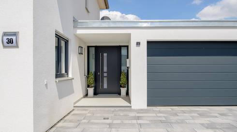 Fertighaus stadtvilla garage  Stadvilla mit Erker und Walmdach von Albert-Haus Musterhaus ...