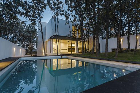 Bosques de Bugambilias: Albercas de estilo moderno por 2M Arquitectura
