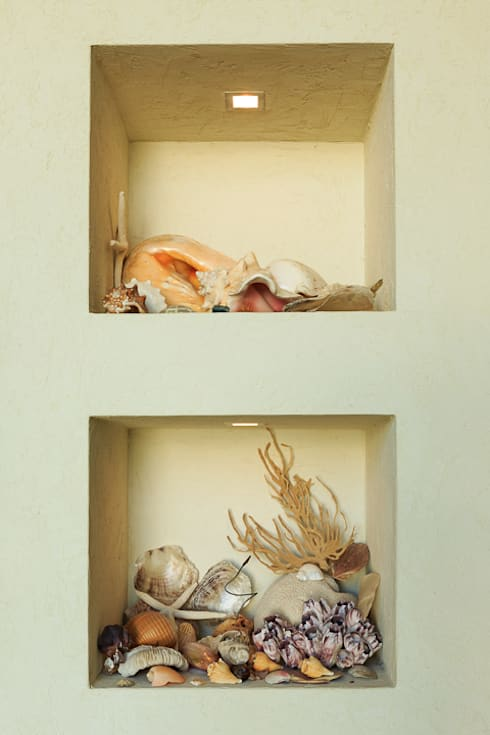 Moradia Algarve 2012: Salas de estar mediterrânicas por Atelier  Ana Leonor Rocha