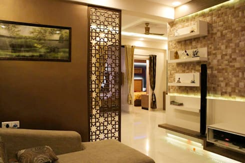 VANDANA RESIDENCE: modern Bedroom by Rubenius Interiors