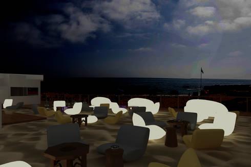 Sun SET -lounge Praia do Evaristo: Espaços de restauração  por Atelier  Ana Leonor Rocha