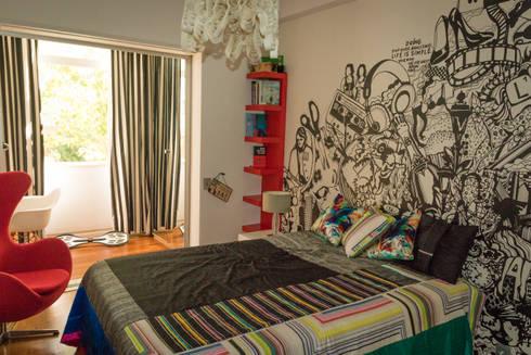 Apartamento Lisboa: Quartos ecléticos por Atelier  Ana Leonor Rocha