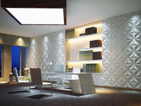Aryl 3D Wall Panel:  Offices & stores by Twinx Interiors