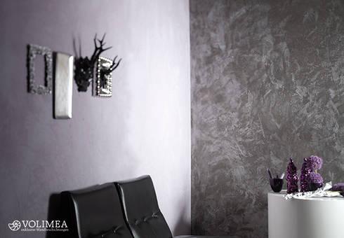 Arbeitszimmer gestaltungsmöglichkeiten  Volimea Wandbeschichtungen - exklusiver Wandspachtel aus Kalk ...
