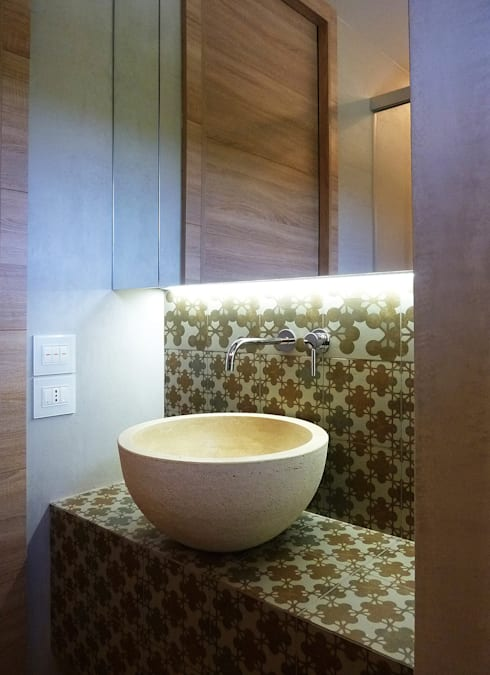 Casas de banho campestres por Stefano Zaghini Architetto