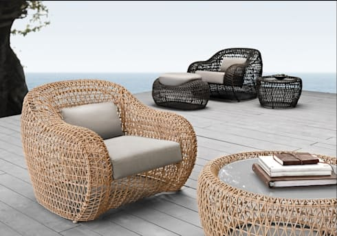 peças de mobiliário: Jardim  por Nuance Home Design