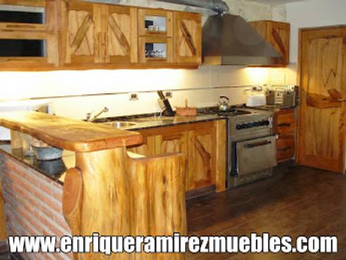 Muebles de cocina artesanales de enrique ramirez muebles - Muebles artesanales de madera ...