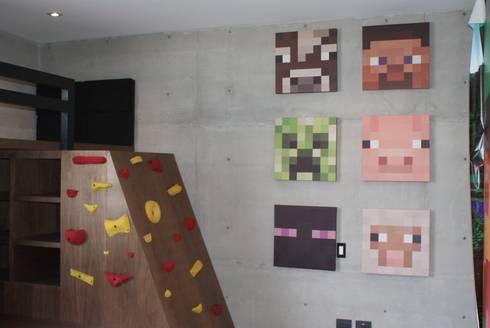 Cuarto Maucraft: Habitaciones infantiles de estilo  por Caio Espacios Infantiles