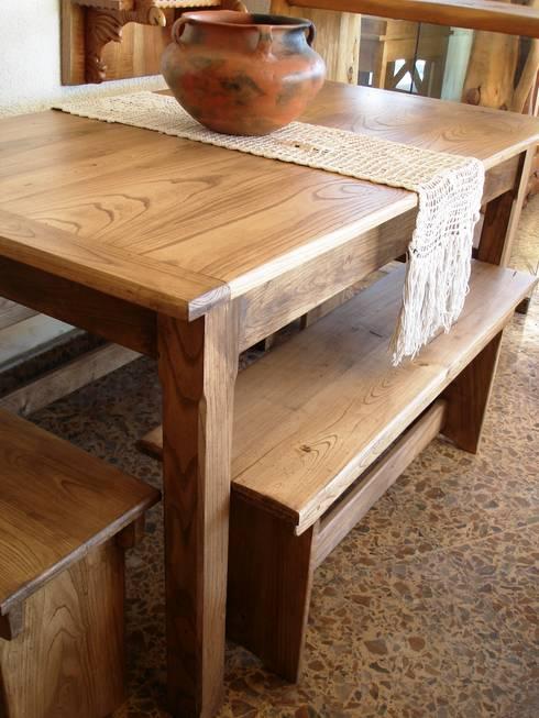 Mesas de madera maciza de enrique ramirez muebles - Mesas de campo ...