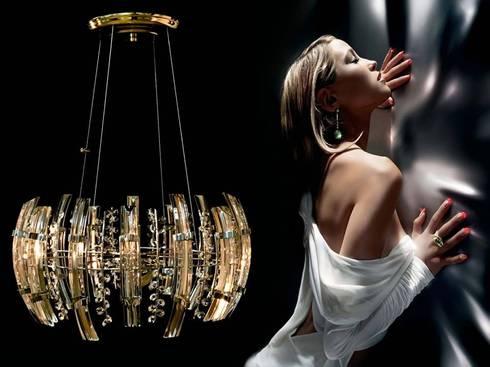 Olimpia: Salas/Recibidores de estilo moderno por Goldencris