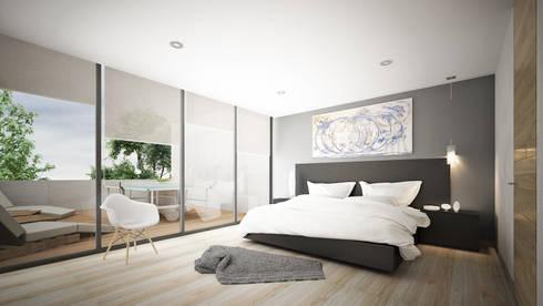 Providencia: Recámaras de estilo moderno por Sulkin Askenazi