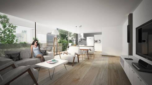 Providencia: Salas de estilo moderno por Sulkin Askenazi