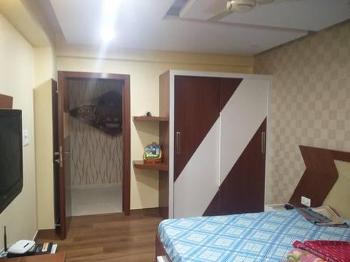 Guest room Wardrobe: modern Bedroom by Shape Interiors
