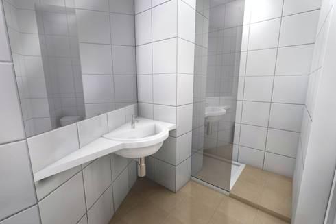 Remodelação de Apartamento: Casas de banho modernas por Zaida Amorim & Maria Luis, Lda