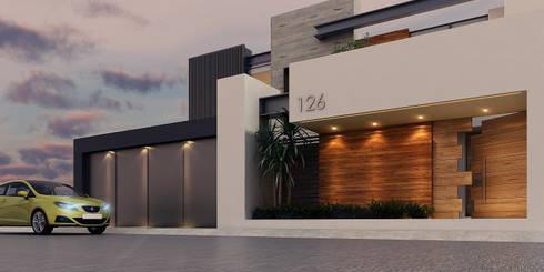 Casa las aguilas de besana studio homify for Fachadas de casas modernas en la ciudad