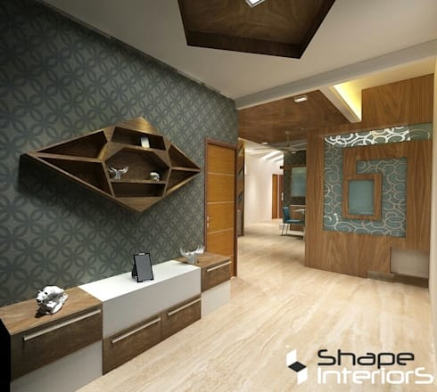 Foyer Area:   by Shape Interiors