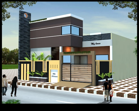 Residence Bungalow   : modern Houses by Nirman Construction