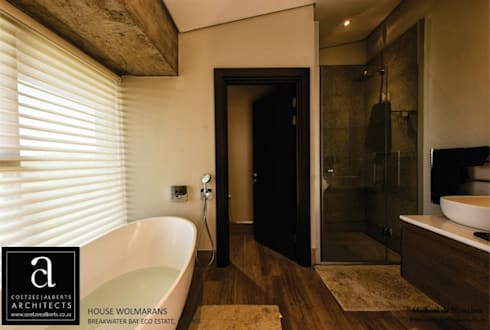 House Wolmarans: modern Bathroom by Coetzee Alberts Architects