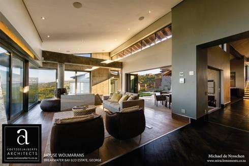 House Wolmarans: modern Living room by Coetzee Alberts Architects