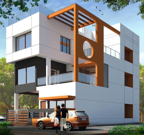 Residence at Vidisha: modern Houses by agnihotri associates