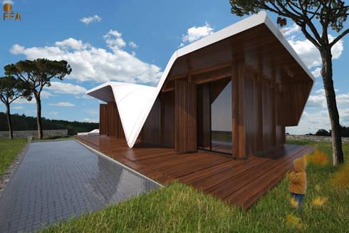 PT - Vista dos Planos de Vidro EN - Glass Openings View: Casas modernas por Office of Feeling Architecture, Lda