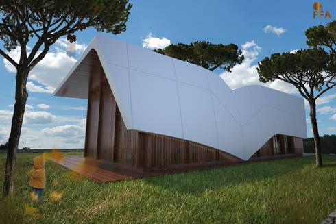 PT - Vista Traseiras EN -Back View: Casas modernas por Office of Feeling Architecture, Lda