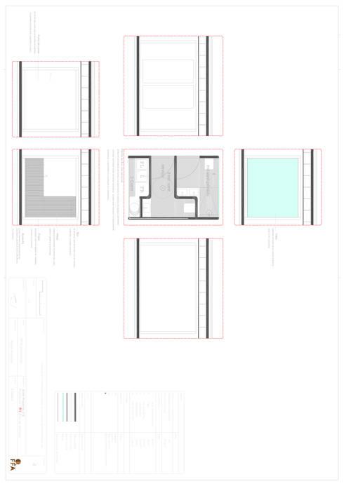 PT - Detalhe da Utility Box EN -  Detail da Utility Box: Casas  por Office of Feeling Architecture, Lda