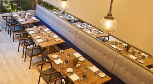 Sala de Refeições: Hotéis  por Amber Road - Design + Contract
