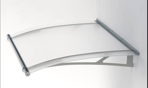 Haustürvordach - Plutvordach L-ine - 1500mm - Acrylglas klar/ transparent:   von elite-BauStoffe  -  Matthias Löffler Handelsvertretung Baustoffe