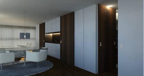 Habitação FR: Salas de estar modernas por ARTEQUITECTOS