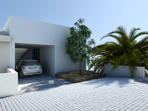 Habitação GF: Garagens e arrecadações modernas por ARTEQUITECTOS
