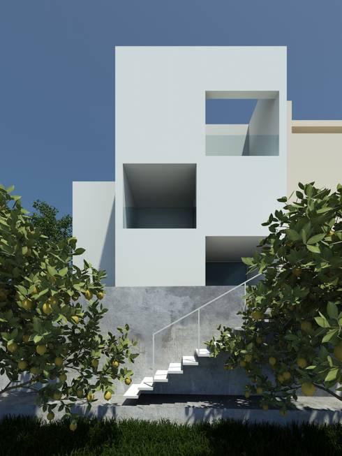 Habitação GF: Casas modernas por ARTEQUITECTOS