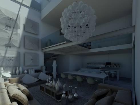 Habitação GF: Salas de estar modernas por ARTEQUITECTOS