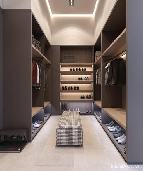 Projekty,  Garderoba zaprojektowane przez homify