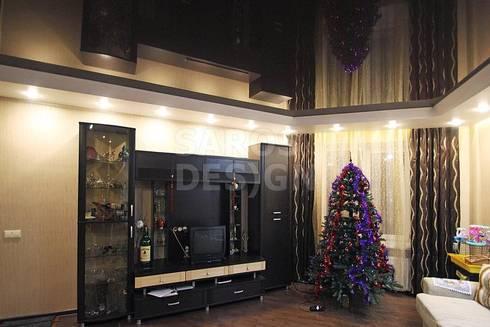 Tectos Tensos: Salas de estar modernas por PERFECT & AFFORDABLE LDA