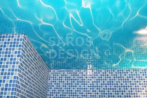 Tectos Tensos: Casas de banho modernas por PERFECT & AFFORDABLE LDA