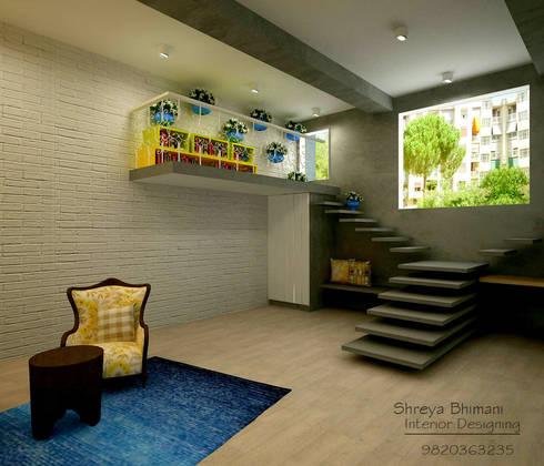 Main Entrance:  Corridor & hallway by Shreya Bhimani Designs