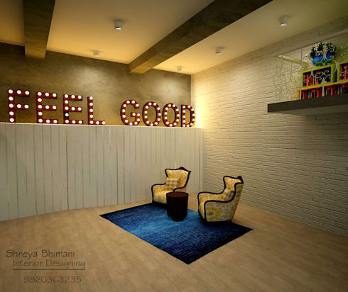 Seating and Changing area: modern Study/office by Shreya Bhimani Designs
