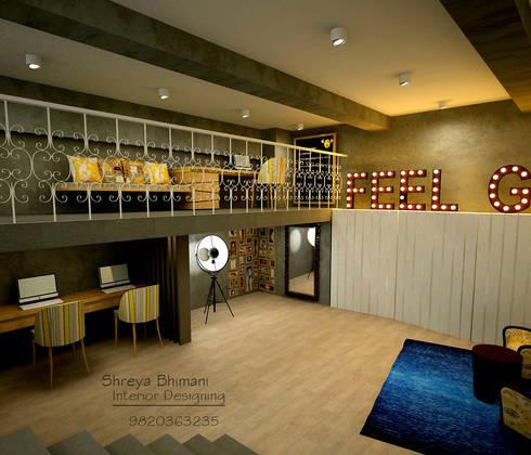 Work Studio: modern Study/office by Shreya Bhimani Designs