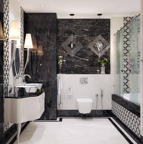 modern Bathroom by Студия дизайна Дарьи Одарюк