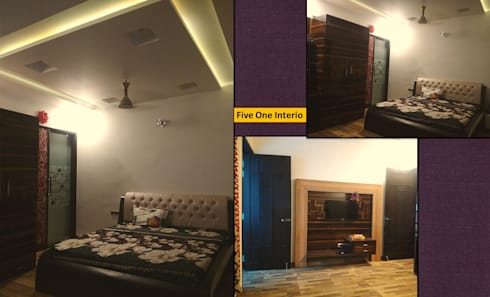 MODERN STYLE HOME AT KANPUR: minimalistic Bedroom by Five One Interio